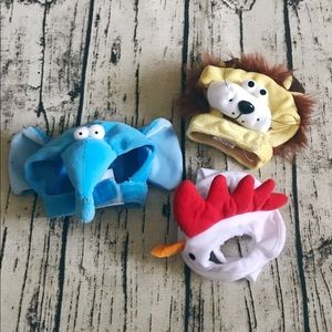 Cat Kitty Halloween Hats Costumes Set of 3